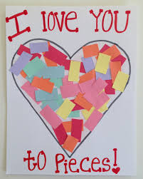 I Love You Crafts Toddler Valentines Day Craft I Love You Toddler Card Kid Art