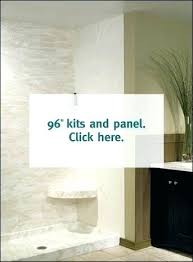 swan stone shower wall kit base colors swanstone with seat