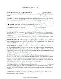 simple rental agreement florida commercial tenancy agreement form lease simple template