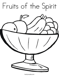 Small Picture Fruits of the Spirit Coloring Page Twisty Noodle