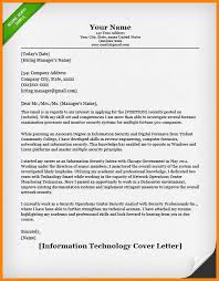 Cover Letter It Information Technology It Cover Letter Example Jpg