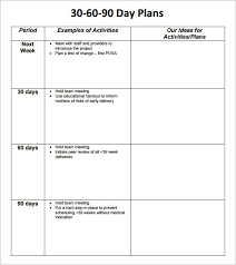 Action Day Planner Template 30 Day Planner Template Planner Template Free