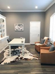 grey home office. Sherwin Williams Dovetail Grey Home Office Paint Color #SherwinWilliamsDovetail