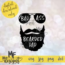 Svg calligraphy handwriting animation can be tricky with varying width strokes and text overlapping itself. Badass Bearded Dad Svg
