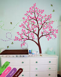 baby nursery tree wall decals with erflies tree wall mural sticker decor tree decal elegant children