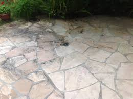 flagstone mold algae improperly sealed flagstone flagstone patio dirty natural stone patio