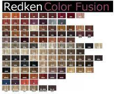 Redken Double Fusion Color Chart Redken Hair Color Chart Redken Hair Color Redkin Hair