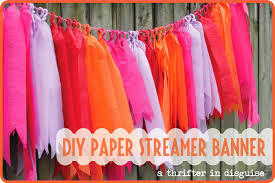 Bargain Party Decorations A Thrifter In Disguise Diy Crepe Paper Party Banner