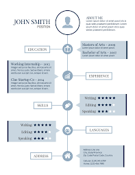 infographic resume template .