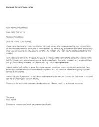 Sample Resume For Restaurant Server Magnificent Restaurant Server Cover Letter No Experience Zonazoom