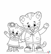 Coloring Pages Coloringages Daniel Tiger Image Ideas Freerintable