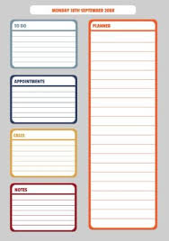 Daily Goals Template Daily Planner Template Create Your Own Planner Instantly