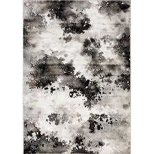 4 x 6 small gray and white distressed area rug platinum