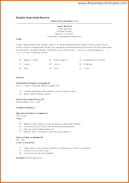 Internship Resume Template Microsoft Word Simple Internship Resume Template Word Photo Student Internship Resume