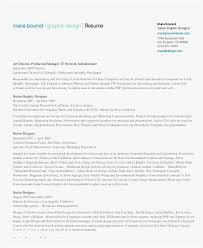 The Graphic Designer Resume Template New Resume Examples Pdf Best
