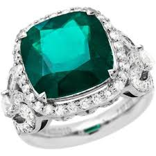 Colombian Ring Size Chart 9 81 Carat 18kt White Gold Superbly Crafted Colombian Emerald And Diamond Ring