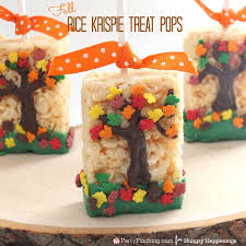 thanksgiving rice krispie treats. Wonderful Thanksgiving When The Leaves Start Falling Outside Head Inside To Make A Batch Of These  Festive With Thanksgiving Rice Krispie Treats I