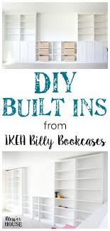 Diy Built In Storage Diy Built Ins From Ikea Bookcases Orc Week 2 Blesser House