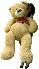 5 Foot Giant Teddy Bear Huge Soft Tan with Bigfoot Paws Stuffed Animal 60 Inch