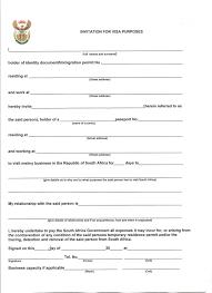 Sample Invitation Letter For Visitor Visa To South Africa | Visa ...