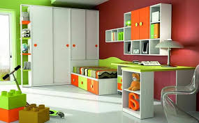 Furniture Set for Children Room with Colorfull Painting and Medium