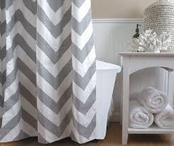 Wonderful Grey Chevron Shower Curtains Long Curtain Gray By Elisabethmichael 12000 For Impressive Design