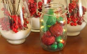Decorate A Jar For Christmas Glass Jar Christmas Crafts 100 Homemade Inspirations 52