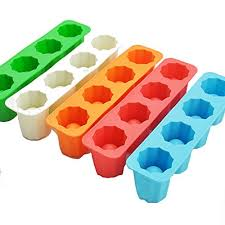 silicone ice shot glass mold 4 cups square blue ice cube tray jelly tray cake cup mold food grade silicone ice mold blue