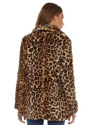 faux fur coat in leopard print