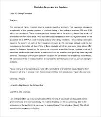 Free Prrintable Parent Discipline Letter Template Example