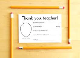 Printable Thank You Cards For Teachers Teachers Thank You Card Template Teacher Appreciation Free