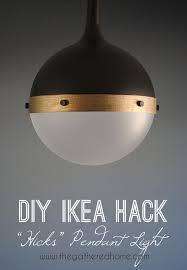 diy ikea hicks pendant light
