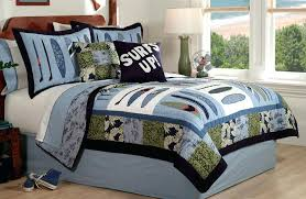 quilt bedding sets surf wave quilt boys bedding set queen full or twin quilt bedding sets