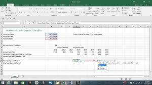 Discounted Cash Flow Analysis Youtube