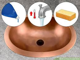 How To Clean Bathroom Sink Drain Magnificent 48 Ways To Clean Copper Sinks WikiHow
