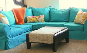 leather couch slipcovers. Brilliant Couch Turquoise Slipcovers For Leather Couches With Leaves Patterned Pillow And  Wooden Table On Couch E