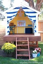 big childrens playhouse free plans that children pas alike will love