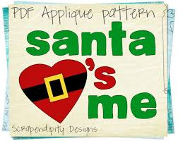 Christmas Template For Word Classy Santa Applique Pattern Christmas Applique Shirt Template Etsy
