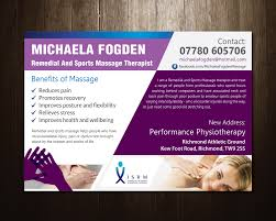 Physiotherapy Leaflet Design Elegant Playful Business Flyer Design For A Company By