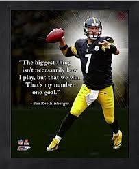 Amazon Ben Roethlisberger Pittsburgh Steelers Pro Quotes Photo Impressive Pittsburgh Quotes