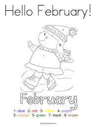Small Picture Hello February Coloring Page Twisty Noodle
