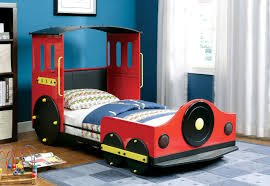 Retro Train Twin Metal Car Bed Frame | Theme Beds for Kids