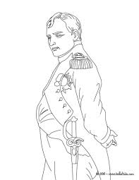 Emperor Napoleon The 1st Coloring Page Bonaparte Mystery Of Colouring Picture Napoleon