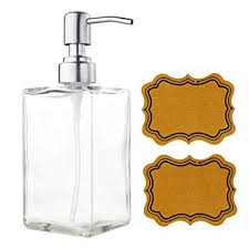 Amazon.com: VCOO Soap Dispenser Bottle with Stainless Steel Pump ...