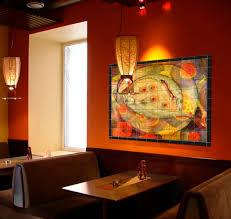 seafood tile mural in restaurant interior design