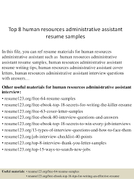 Human Resources Assistant Resume Examples Top 8 Human Resources Administrative Assistant Resume