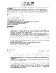 Confidential Controller Resume. Joe Cianciolo Sr. ...