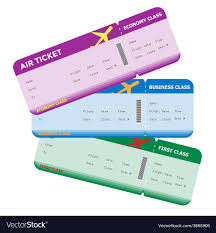Image Classes Flight Pass Three Of Boarding Blank Vector
