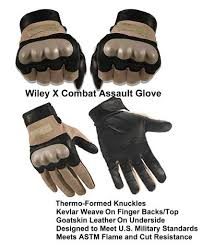 Wiley X Gloves Size Chart Wiley X Combat Assault Glove Tan Cag 1