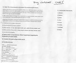 Kids. worksheet of english for class 1: Worksheets For Grade ...